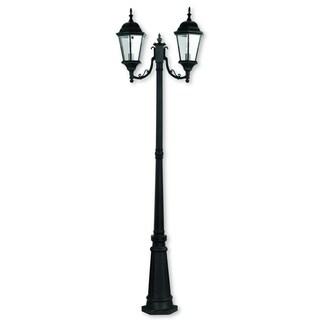 Livex Lighting Hamilton Black Cast Aluminum 2-light Outdoor 2-headed Post Lantern