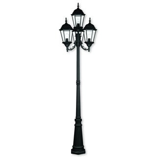 Livex Lighting Hamilton Black Cast Aluminum Four-light Outdoor Four-headed Post Lantern