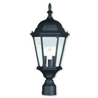 Livex Lighting Hamilton Black 3-light Outdoor Post Lantern