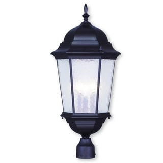 Livex Lighting Hamilton Black Aluminum 3-light Outdoor Post Lantern