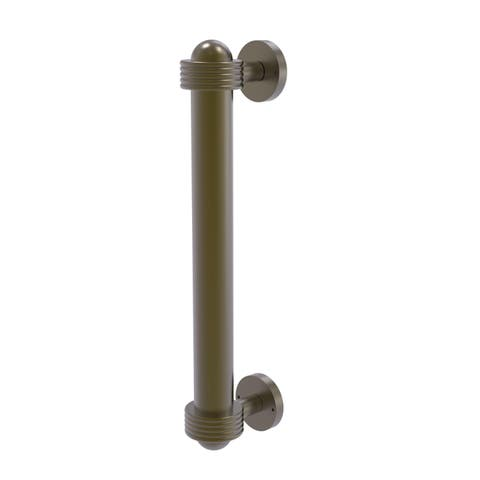 """Allied Brass Clear Brass 8-inch Door Pull with Groovy Accents - 1.4""""W x 2.5""""D x 8""""L"""