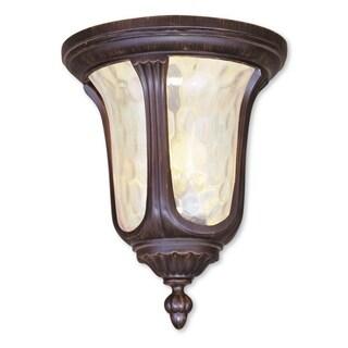 Livex Lighting Oxford Imperial Bronze2-light Outdoor Ceiling Mount Fixture
