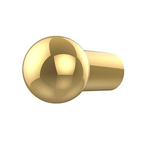 Allied Brass Clear Brass Designer Cabinet Knob