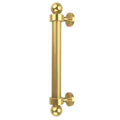 Allied Brass Clear Brass 8-inch Reeded Door Pull