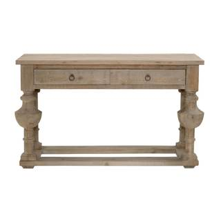 Gray Manor Nathaniel Wood 2-drawer Console Table