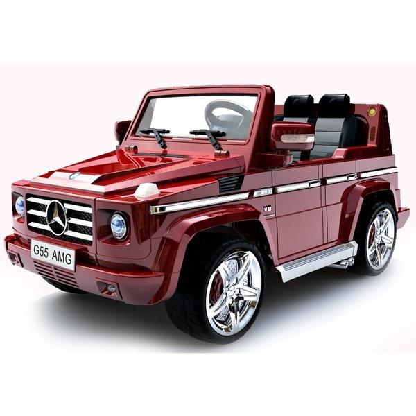 Best Ride On Cars Mercedes Benz G55 12v Burgundy Free