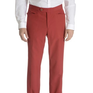 Sansabelt Men's Solid Poplin Top Pocket Classic Cut Dress Pant