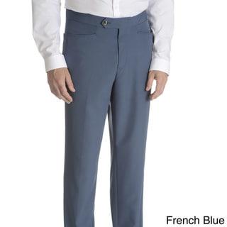 Sansabelt Men's Solid Poplin Top Pocket Classic Cut Dress Pant