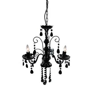 Edanna Black Acrylic 3-light 16-inch Chandelier