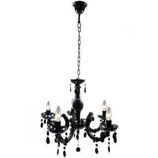 Warehouse of Tiffany Elfredah Black Acrylic 5-light Chandelier