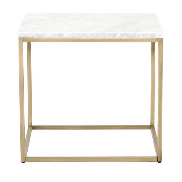 Gray Manor Autumn Marble-top End Table. Opens flyout.