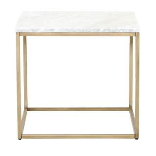 Gray Manor Autumn Marble-top End Table