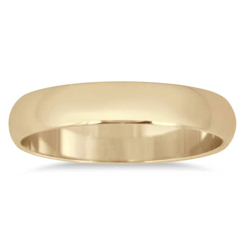 Marquee Jewels 10k Yellow Gold 3-millimeter Domed Wedding Band