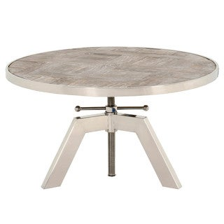 Gray Manor Russell Stainless Steel Round Coffee Table