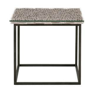 Gray Manor Black Metal/Wood Abby End Table