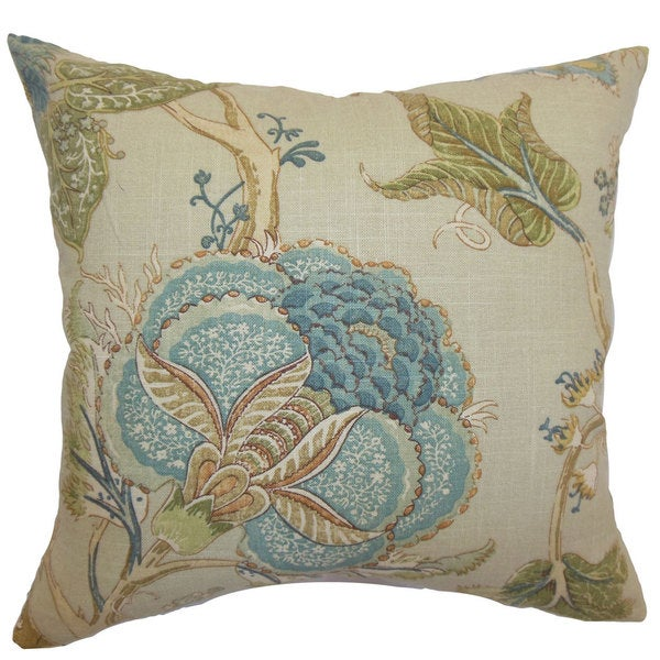 Ymanya Floral Throw Pillow Cover coast