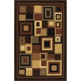 Home Dynamix Catalina Collection Transitional Black/Beige/Brown Area Rug Runner (1'9 x 6'9)