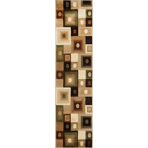 Home Dynamix Tribeca Collection Contemporary Area Rug Runner - 1'10 x 7'3