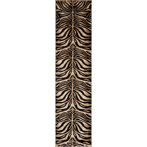 Home Dynamix Tribeca Collection Contemporary Black/Ivory Area Rug
