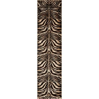 "Home Dynamix Tribeca Collection Contemporary Black/Ivory Area Rug (1'9"" x 7'2"")"