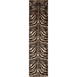 "Home Dynamix Tribeca Collection Black/Ivory Machine-made Area Rug Runner (1'9"" x 7'2"")"