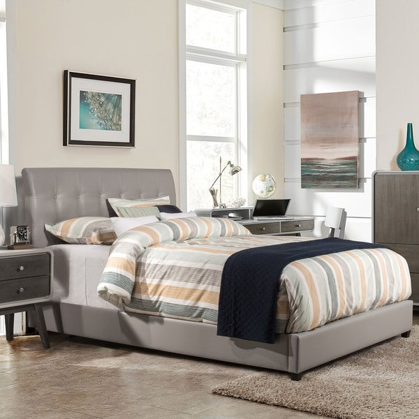 Hillsdale Furniture Lusso Bed with Rails, Grey