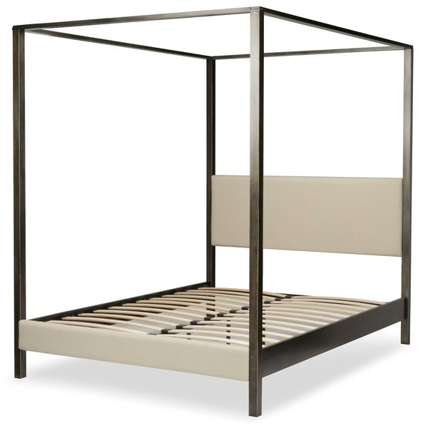 Fashion Bed Group Avalon Canopy Platform Bed in Dark Silver Finish