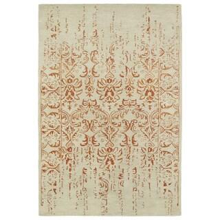 Hand-Tufted Wool & Viscose Anastasia Vanishing Paprika Rug (9'6 x 13')