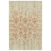 "Hand-Tufted Wool & Viscose Anastasia Vanishing Paprika Rug - 9'6"" x 13'"