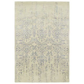 Hand-Tufted Wool & Viscose Anastasia Vanishing Grey Rug (9'6 x 13')