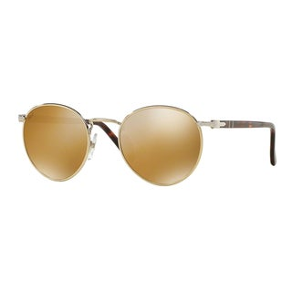 Persol Men's PO2388S 1016W4 49 Gold Metal Round Sunglasses