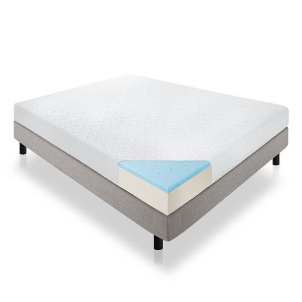 LUCID 8 inch King size Gel Memory Foam Mattress Free