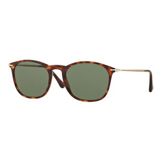Persol Men's PO3124S 24/31 Havana Plastic Square Sunglasses