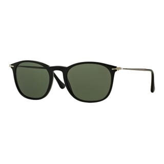 Persol Men's PO3124S 95/31 Black Plastic Square Sunglasses