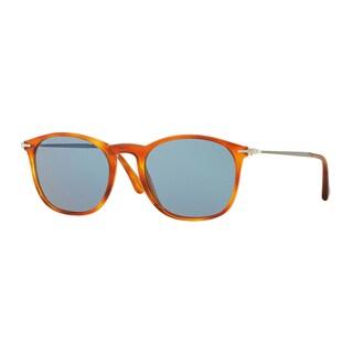Persol Men's PO3124S 96/56 Havana Plastic Square Sunglasses