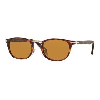 Persol Men's PO3127S 24/33 52 Havana Plastic Rectangle Sunglasses