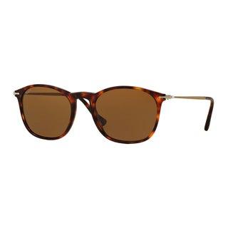 Persol Men's PO3124S 24/57 Havana Plastic Square Polarized Sunglasses
