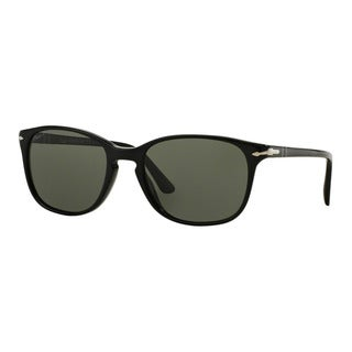 Persol Men's PO3133S 901458 Black Plastic Square Polarized Sunglasses