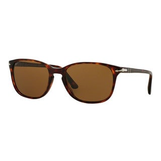 Persol Men's PO3133S 901557 Havana Plastic Square Polarized Sunglasses