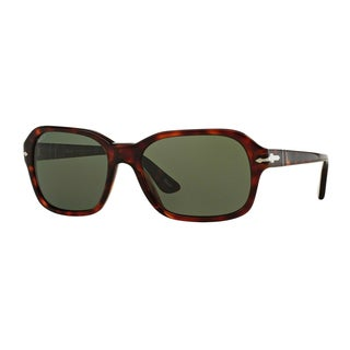 Persol Men's PO3136S 24/58 Havana Plastic Square Polarized Sunglasses