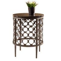 Hillsdale Furniture Brescello Brown Metal/Stone Round End Table