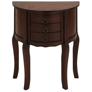 Urban Designs Anne Demilune Wood Accent Table