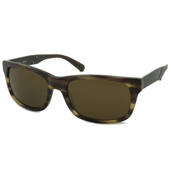b3a57ca2f8 Shop Guess Men s GU6809 Rectangular Sunglasses - Free Shipping On ...