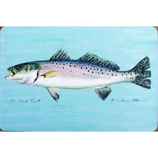 Betsy Drake Coastal Speckled Trout Door Mat
