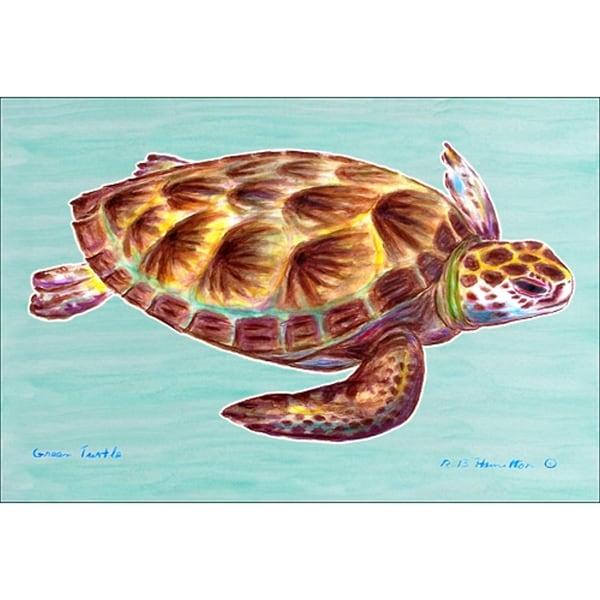 Betsy Drake Coastal Sea Turtle Door Mat