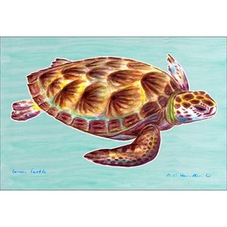 Betsy Drake Coastal Sea Turtle Door Mat
