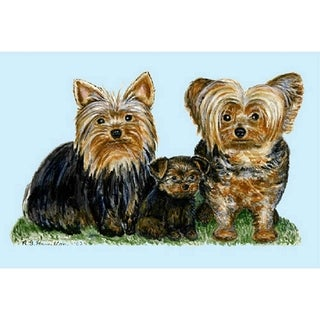 Yorkies Polyester Door Mat