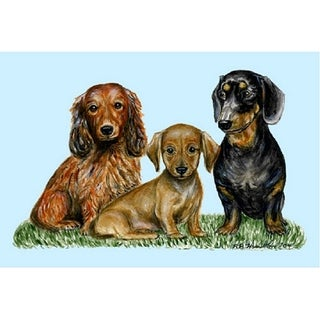 Betsy Drake Pet Dachshunds Door Mat