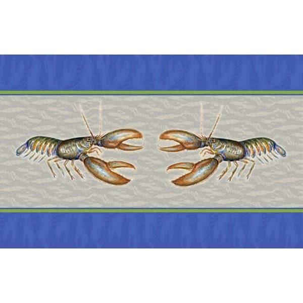Betsy Drake Coastal Lobster Door Mat