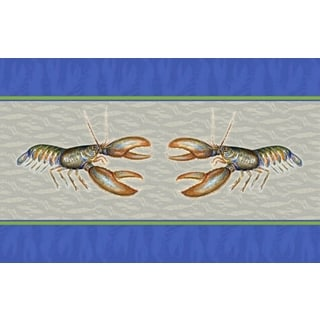 Betsy Drake Coastal Lobster Door Mat